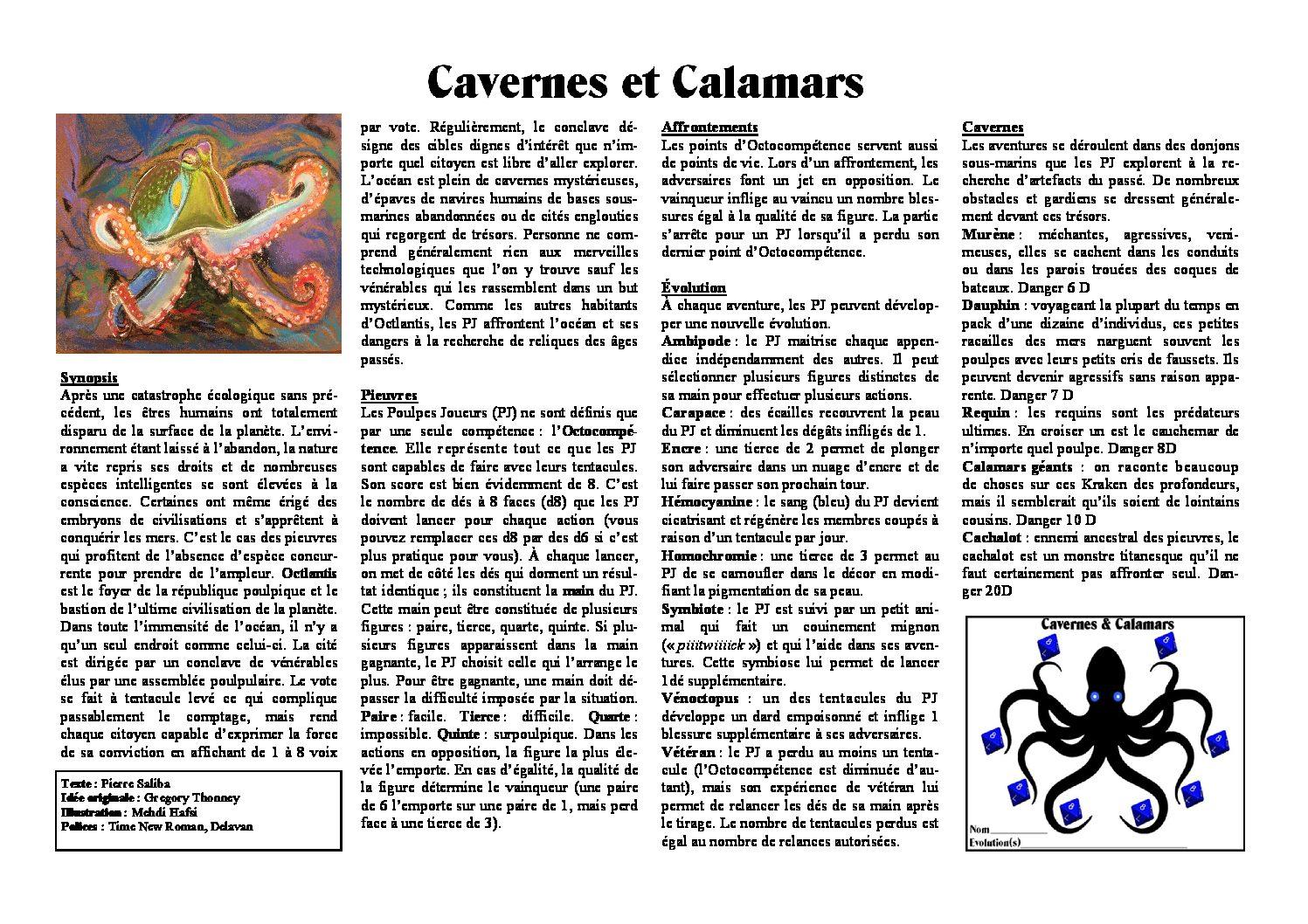 Cavernes & Calamars