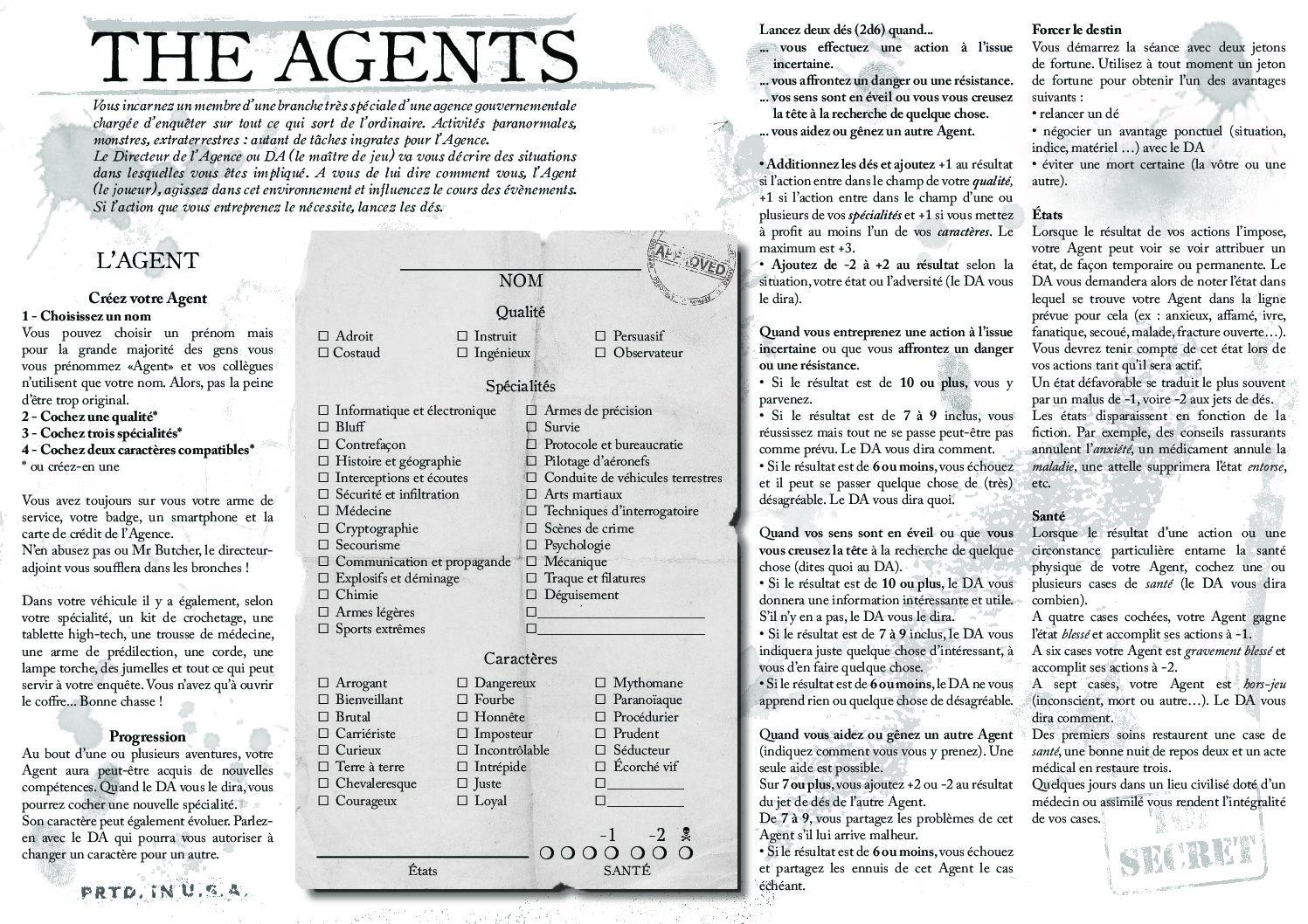 Jeu de rôle court : The Agents par Magimax