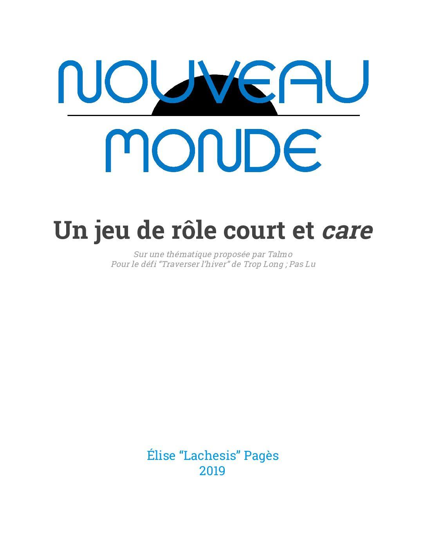 Jeu de rôle court : Nouveau Monde par Élise « Lachesis » Pagès